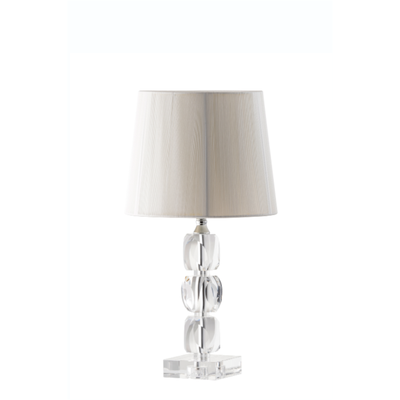 Engraved Facet Small Lamp & Shade (IRL/UK Fittings) (FC61E) - Galway Irish Crystal