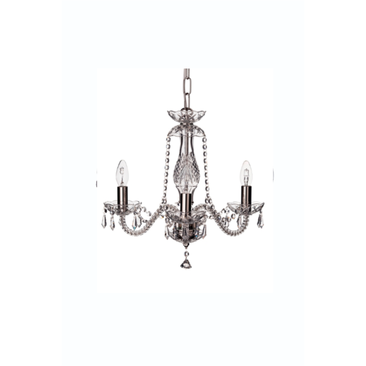 Leenane 3 Arm Chandelier UK/IRE Fitting - Galway Irish Crystal