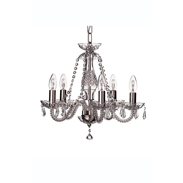 Leenane 5 Arm Chandelier UK/IRE Fitting - Galway Irish Crystal
