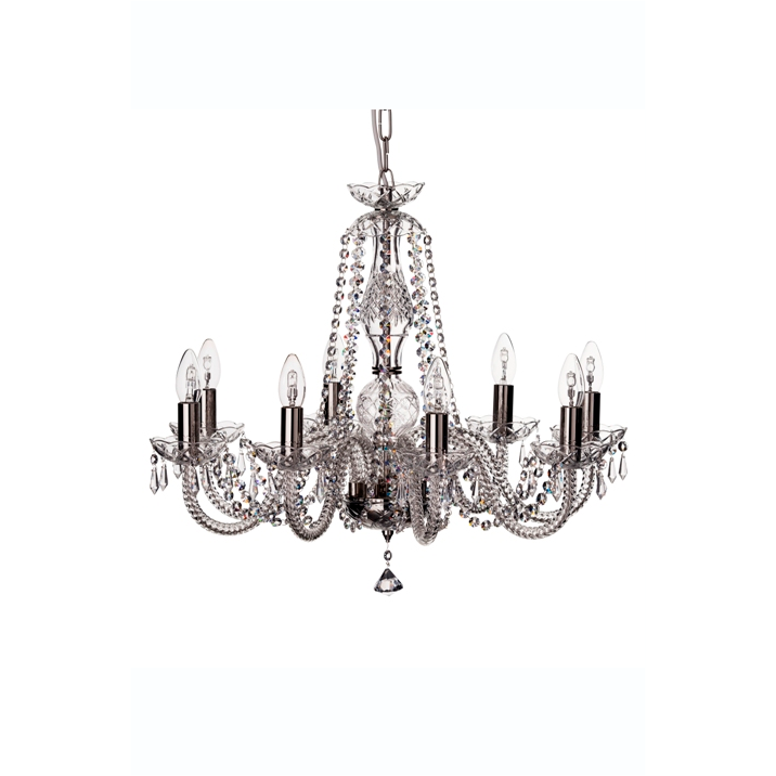 Leenane 8 Arm Chandelier (GLE08) - Galway Irish Crystal