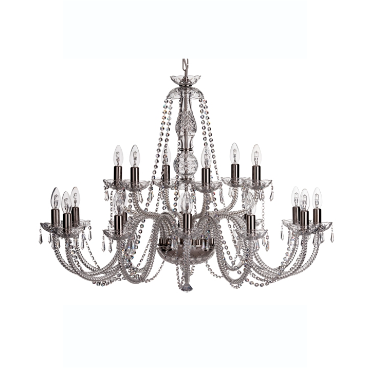 Leenane 18 Arm Chandelier (GLE18) - Galway Irish Crystal