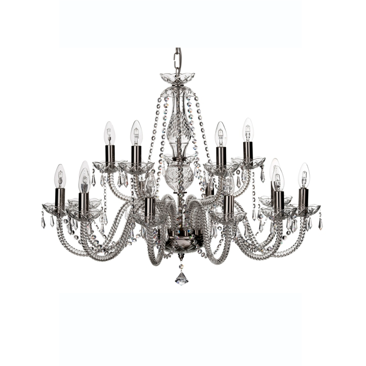 Leenane 15 arm Chandelier (GLE15) - Galway Irish Crystal