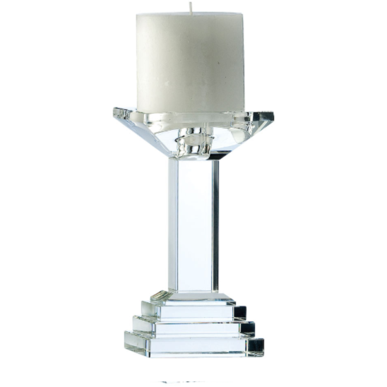 "Paris 7"" Candleholder Engraved (excludes candles)"