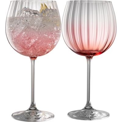 Erne Gin and Tonic Glasses Blush