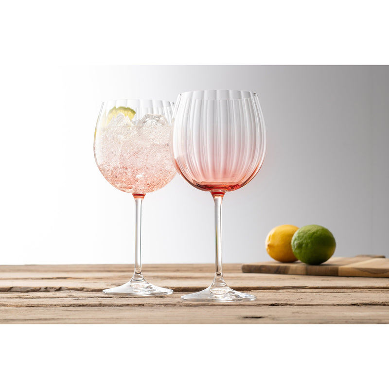 Erne Gin and Tonic Glass Pair Blush - Galway Crystal