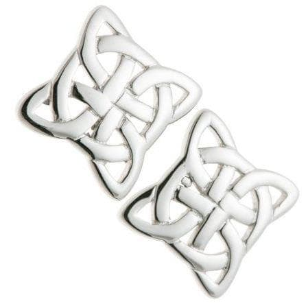 Celtic Knot Sterling Silver Earrings - Galway Irish Crystal