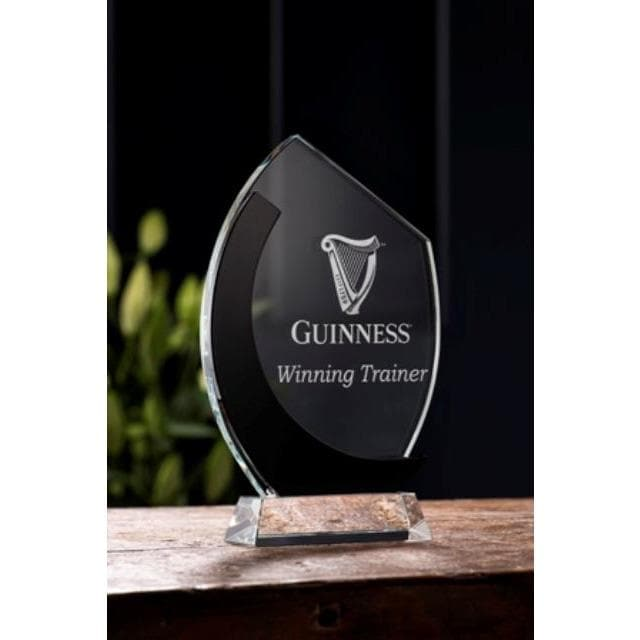 "Deco 10"" Oval Award Engraved - Galway Irish Crystal"