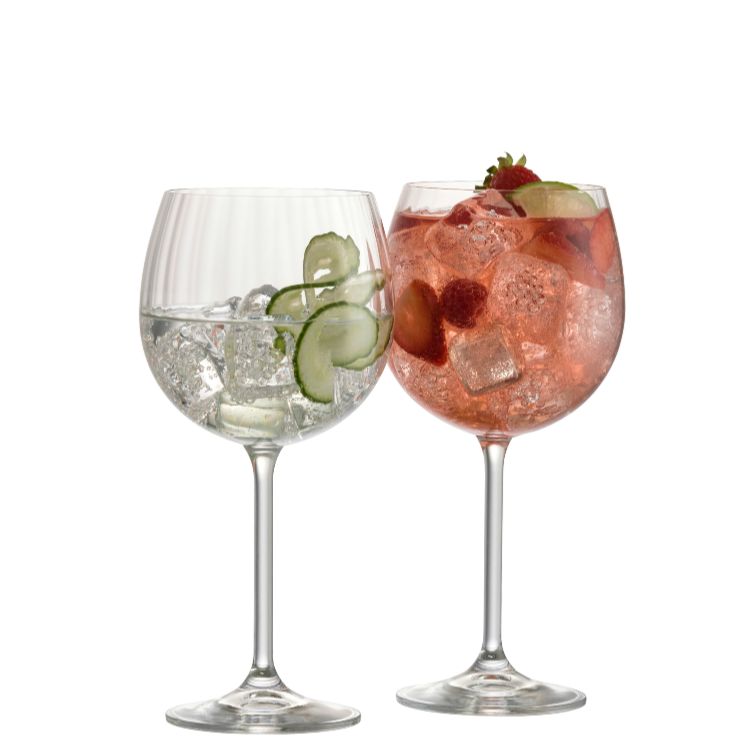 Engraved Erne Gin & Tonic Pair - Galway Irish Crystal