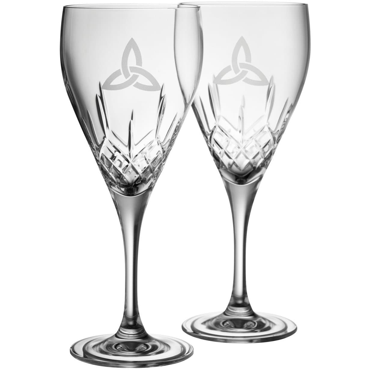 NEW Trinity Knot Red Wine Glass Pair