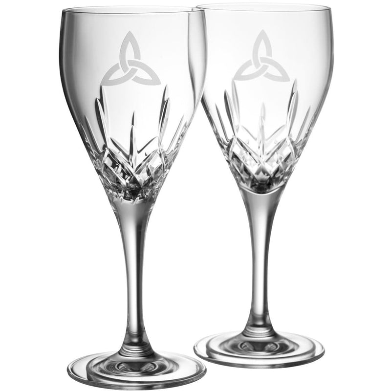 NEW Trinity Knot White Wine (Pair) G203412 - Galway Irish Crystal