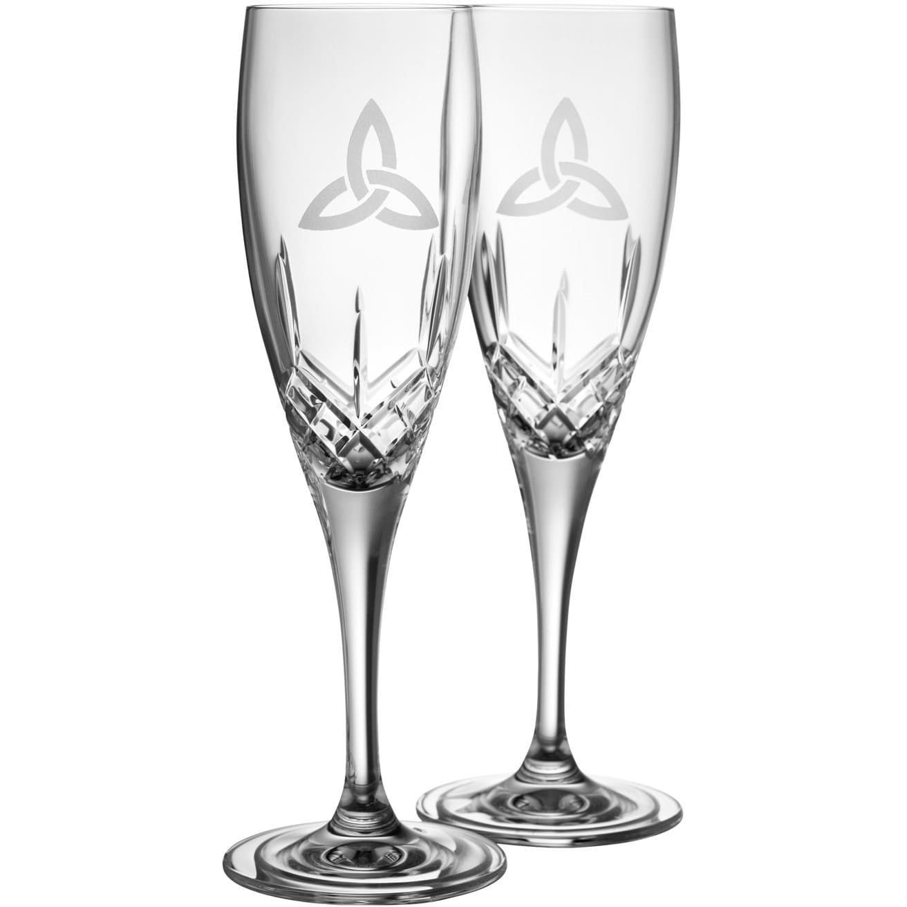 NEW Trinity Knot Flute Glass Pair