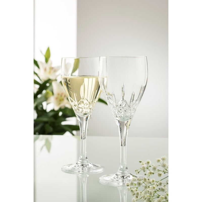 Longford White Glass Pair