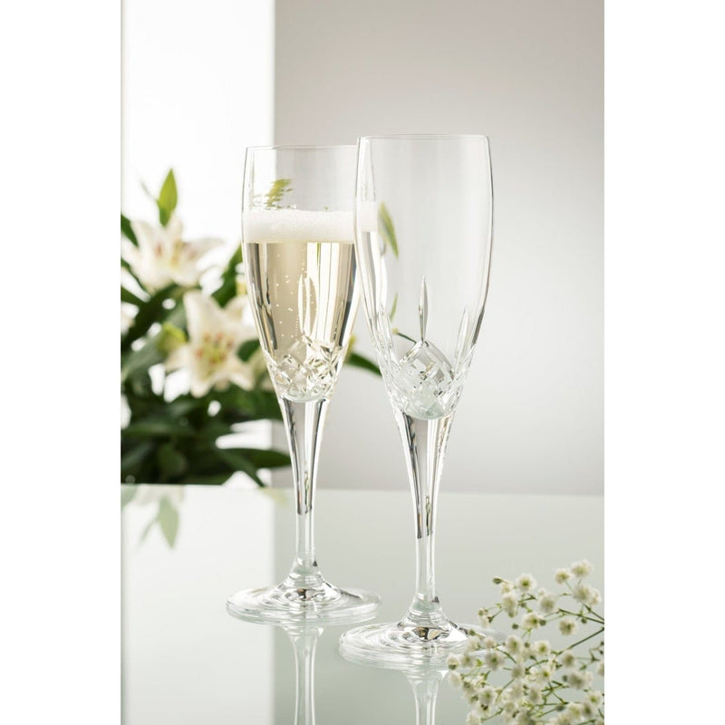 NEW Longford Flute Glass Pair