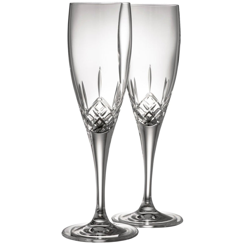 Engraved NEW Longford Flute Pair - Galway Irish Crystal