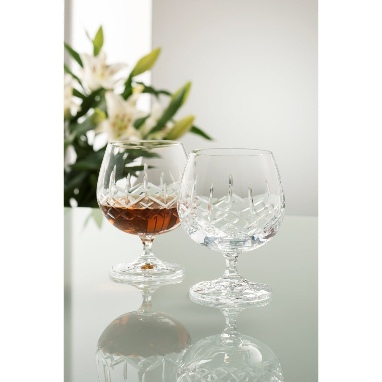 Engraved NEW Longford Brandy (Pair) G222972E - Galway Irish Crystal