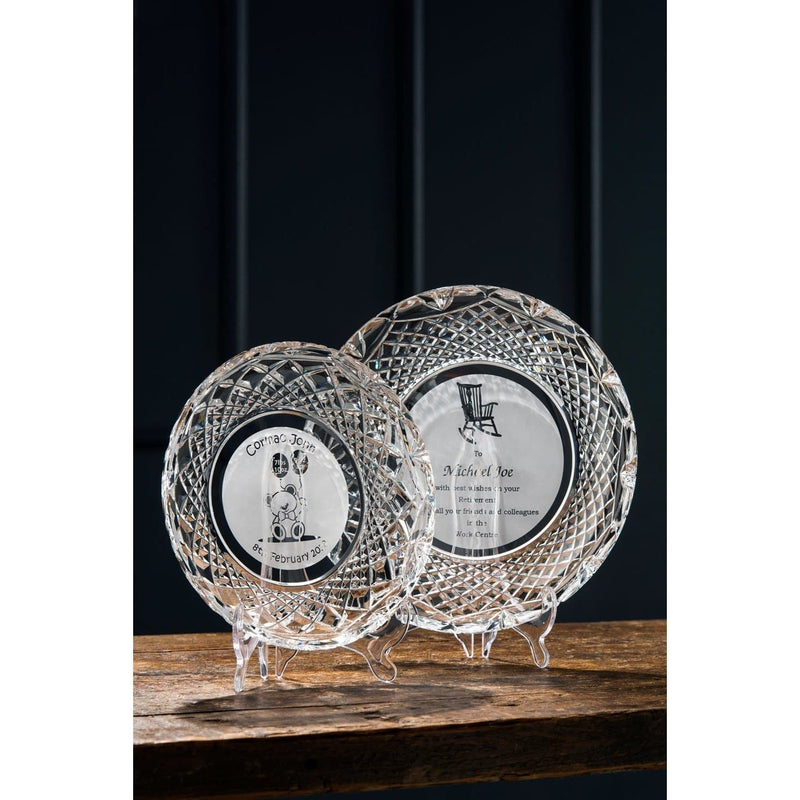 "11"" Plate Engraved - Galway Irish Crystal"
