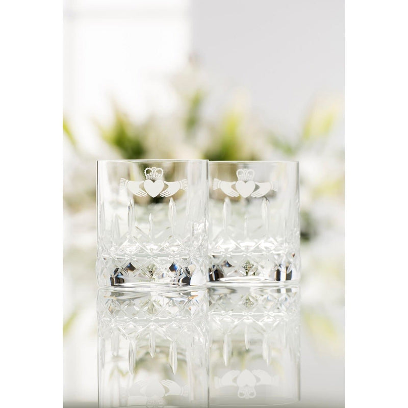 NEW Claddagh DOF/Whiskey Glass Pair