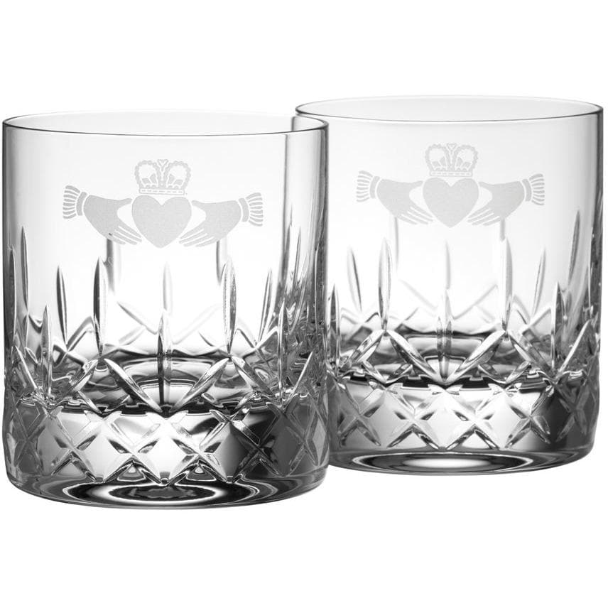 NEW Claddagh DOF/Whiskey Pair - Galway Irish Crystal