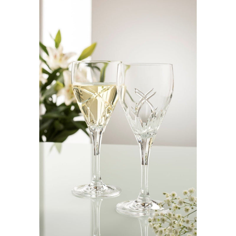 Engraved NEW Longford White Wine Pair