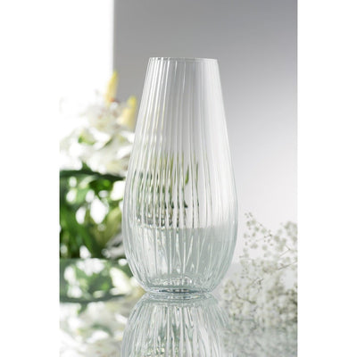 "Erne 12"" Vase Engraved - Galway Irish Crystal"