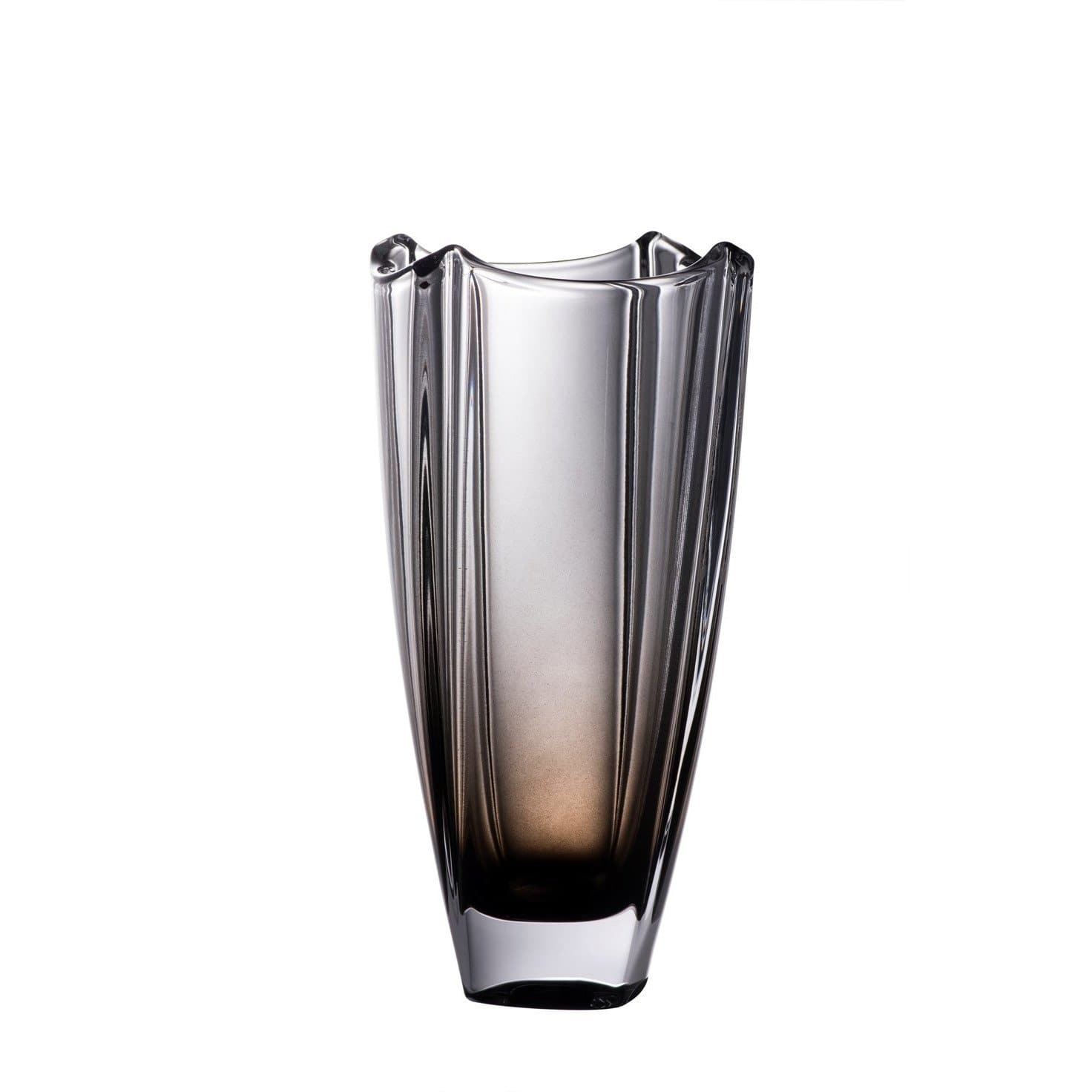 "Onyx Dune 10"" Square Vase - Galway Irish Crystal"