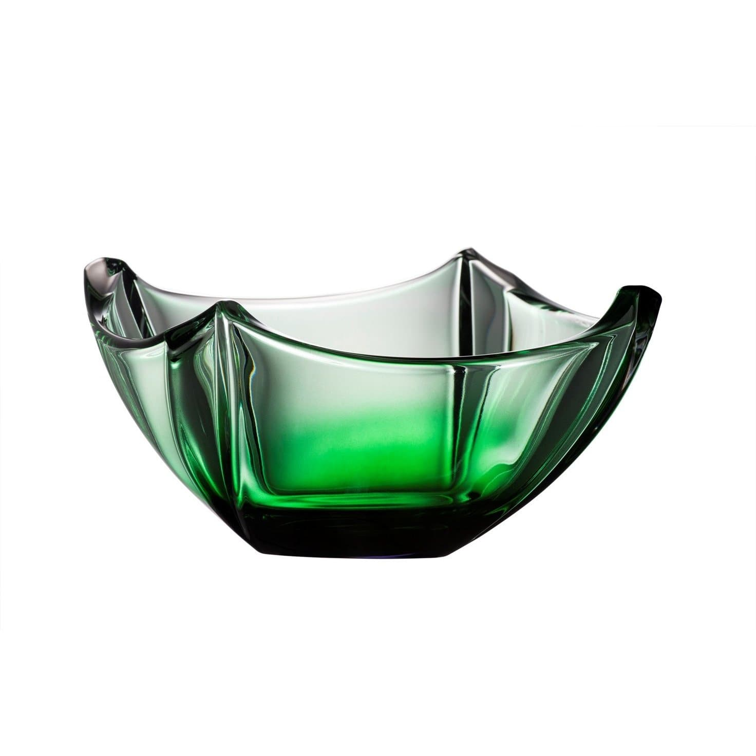 "Engraved Emerald Dune 10"" Bowl G45023E - Galway Irish Crystal"