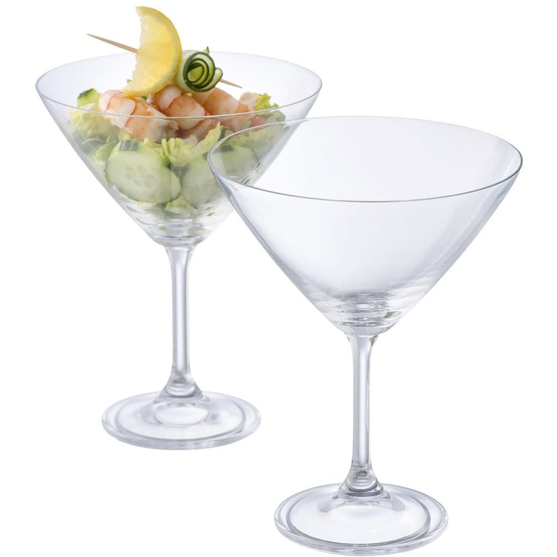 NEW Elegance Martini/Cocktail Pair G900052 - Galway Irish Crystal