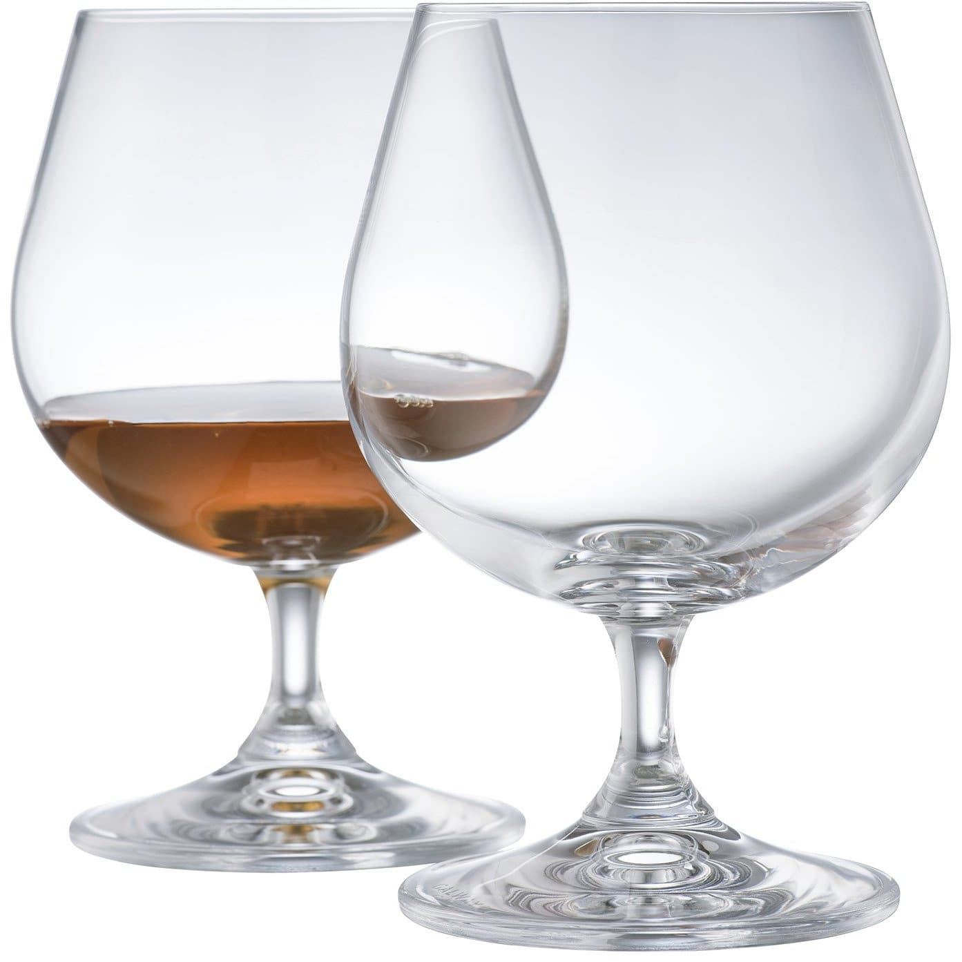 Engraved Elegance Brandy Balloon Glass Pair