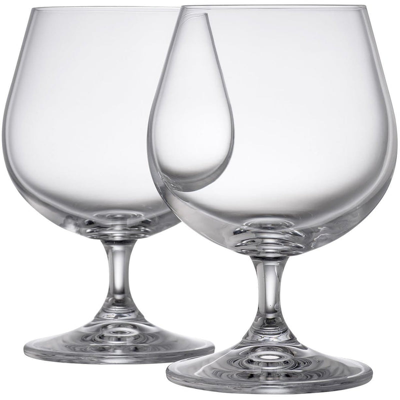 Engraved Elegance Brandy/Cream Liqueur Pair