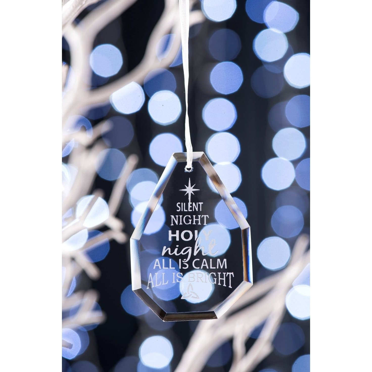 NEW Silent Night Hanging Ornament GDH04 - Galway Irish Crystal