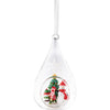 Snowman Teardrop Hanging Bauble