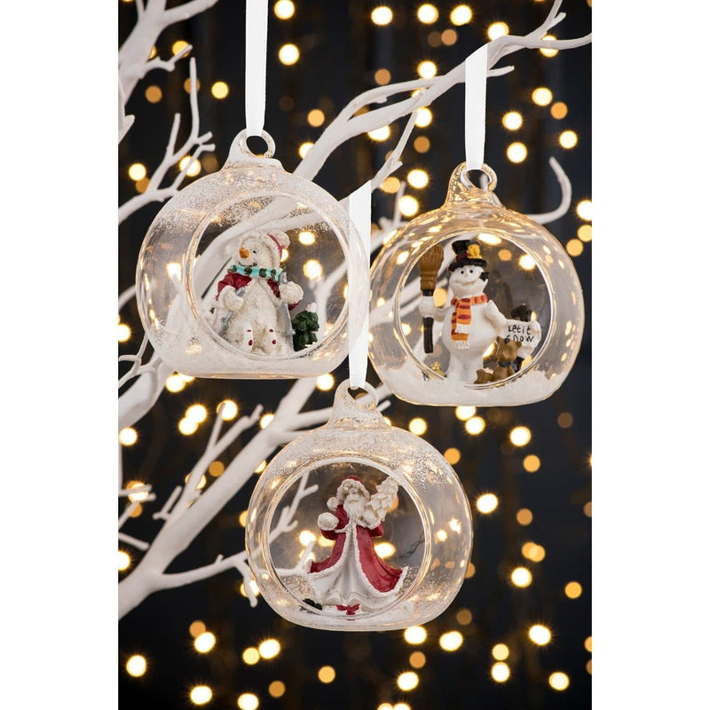 NEW Skiing Snowman Hanging Ornament GHO55