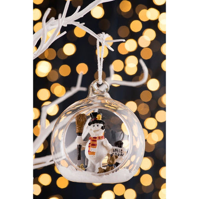 Let it Snow Hanging Ornament - Galway Irish Crystal