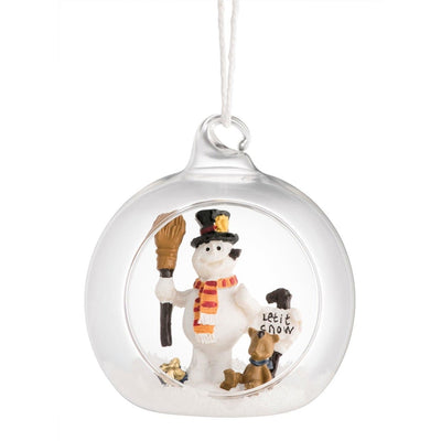*Sold Out* Let it Snow Hanging Ornament GHO56 - Galway Irish Crystal