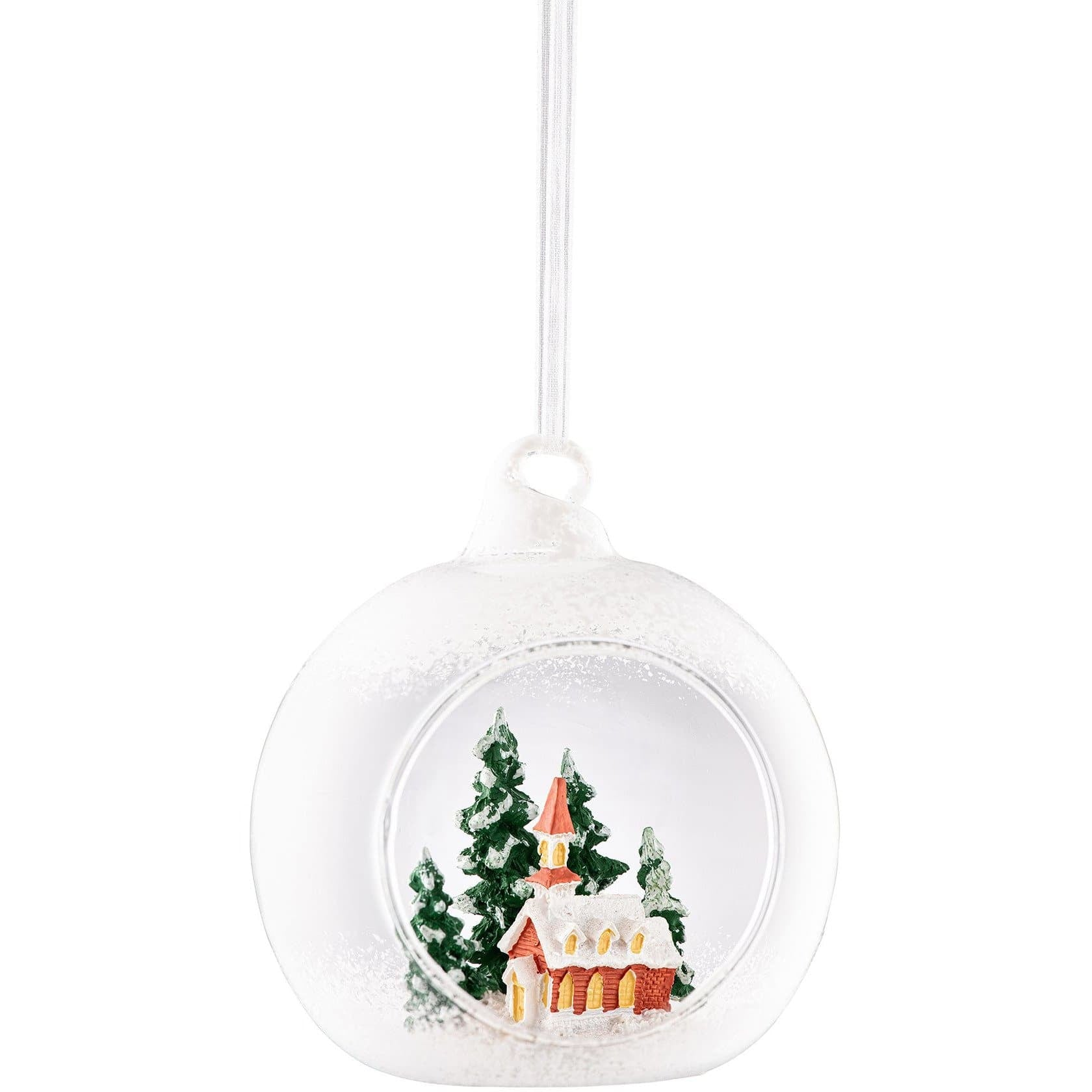 Church Scene Hanging Bauble