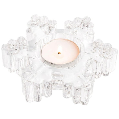 Snowflake Votive (LED Tealight) - Galway Irish Crystal