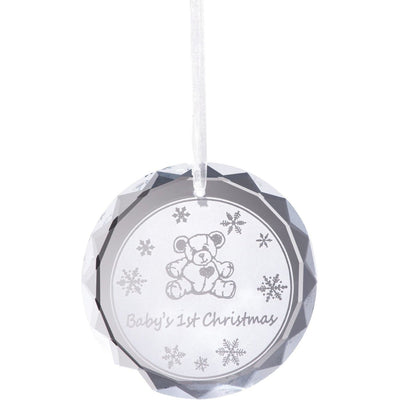Baby's 1st Christmas Hanging Ornament - Galway Irish Crystal