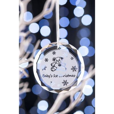 Baby's 1st Christmas Hanging Ornament  GRH07 - Galway Irish Crystal