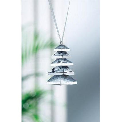 Modern Christmas Tree Hanging Ornament - Galway Irish Crystal