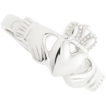 Ladies Claddagh Sterling Silver Ring - Galway Irish Crystal