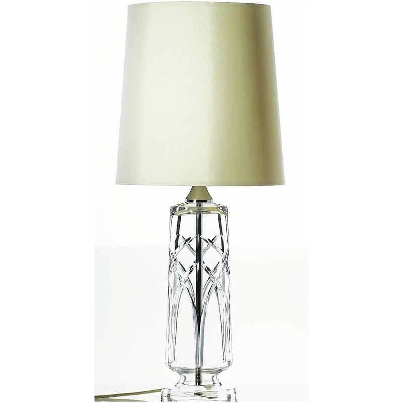 "Engraved Mystique 16"" Lamp & Shade UK/IRE Fitting - Galway Irish Crystal"