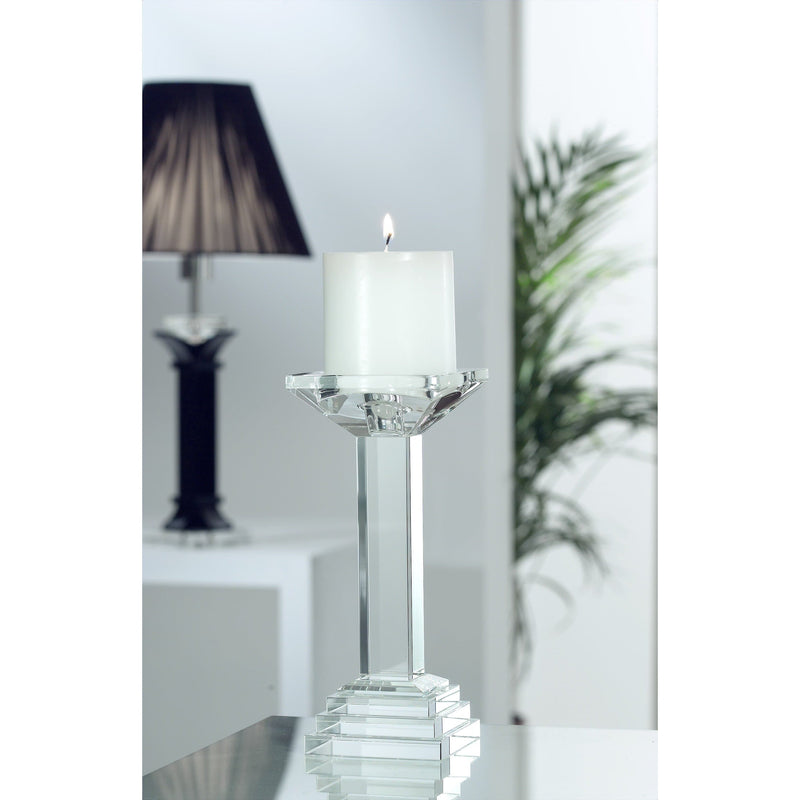"Paris 9"" Candleholder Engraved - Galway Irish Crystal"
