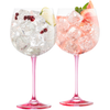 Engraved Gin & Tonic Pair - Pink - Galway Irish Crystal