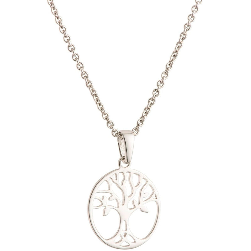 Tree Of Life Sterling Silver Pendant - Small G8106 - Galway Irish Crystal