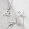 Trinity Knot Sterling Silver Earrings G8002 - Galway Irish Crystal