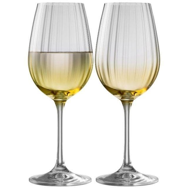 Erne Wine Glass Pair Amber