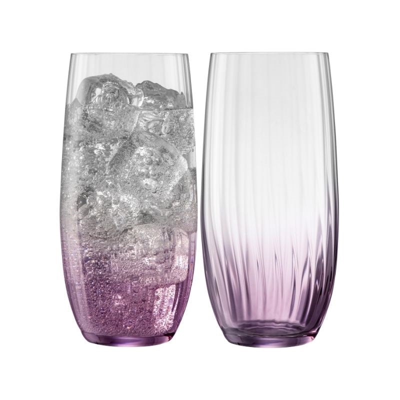 Erne Hiball Glass Pair Amethyst