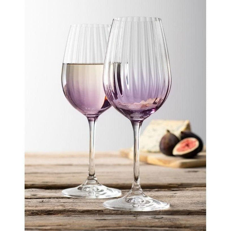 Erne Wine Glass Pair Amethyst