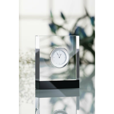 "Deco Rectangular Clock 4.5"" - Galway Irish Crystal"