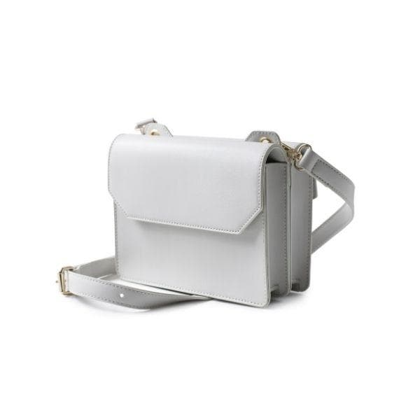 Cross Body Double Sided Bag Light Grey